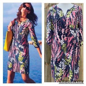 Boden Linen Tunic Dress Floral Size 6 6R